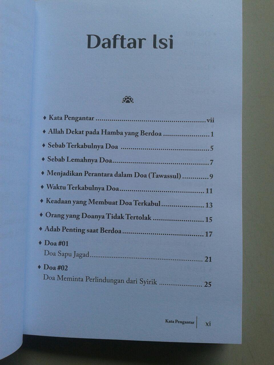 Buku 50 Doa Mengatasi Problem Hidup isi