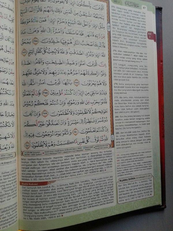 Al-Qur'an Terjemah & Tajwid Warna Al-Haramain Tafsir Ringkas Ayat-ayat isi