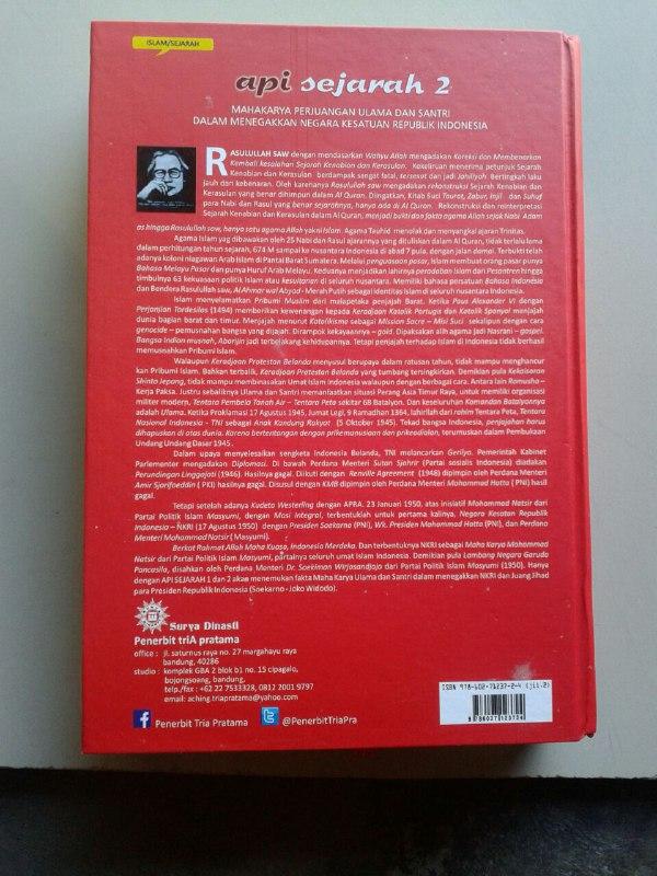 Buku Api Sejarah Mahakarya Perjuangan Ulama Dan Santri Set 2 Jilid cover 4