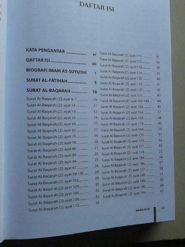 Buku Asbabun Nuzul isi 2