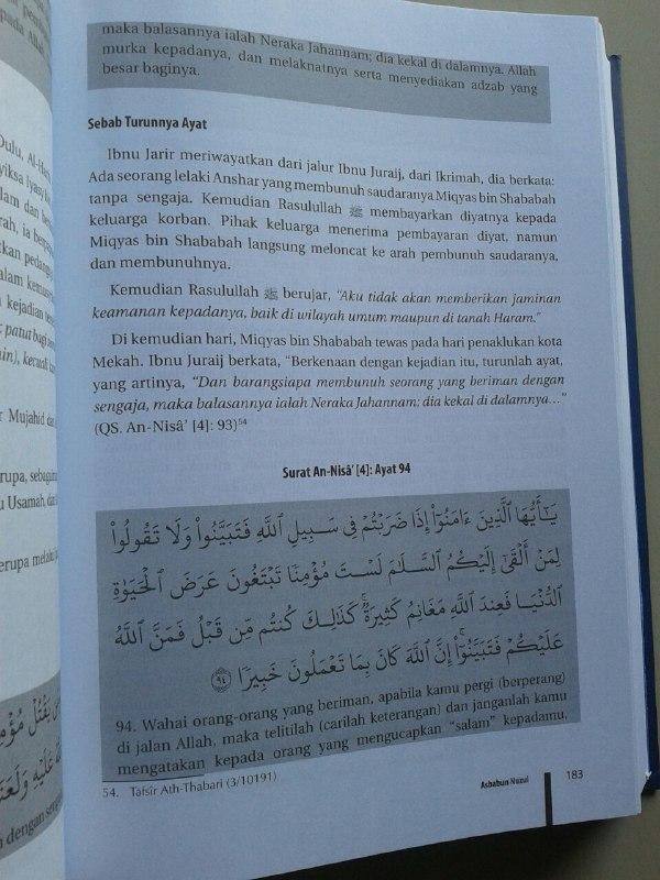 Buku Asbabun Nuzul isi