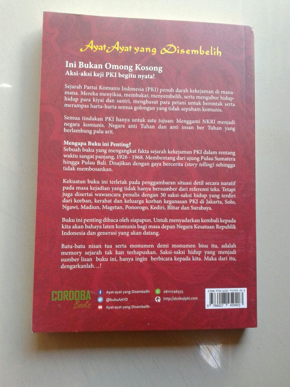 Buku Ayat Ayat Allah Yang Disembelih Sejarah Banjir Darah Para Kyai cover