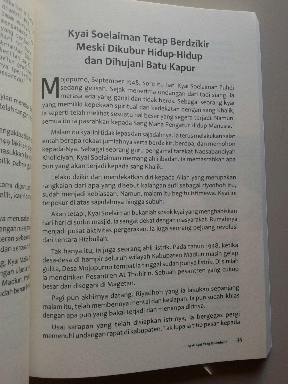 Buku Ayat Ayat Allah Yang Disembelih Sejarah Banjir Darah Para Kyai isi 2