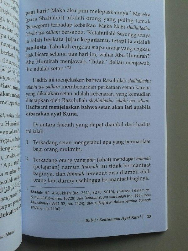 Buku Ayat Kursi Keutamaan Tafsir Dan Fawaa-idnya isi