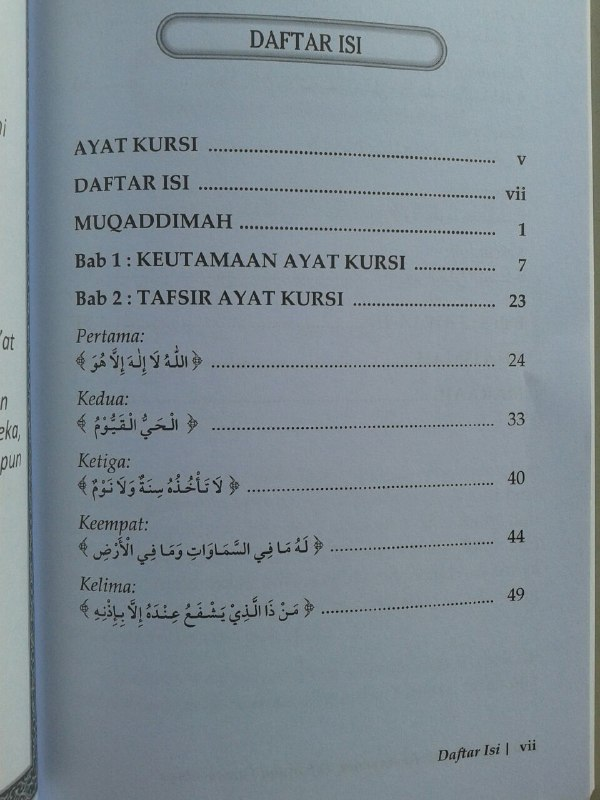 Buku Ayat Kursi Keutamaan Tafsir Dan Fawaa-idnya isi 2