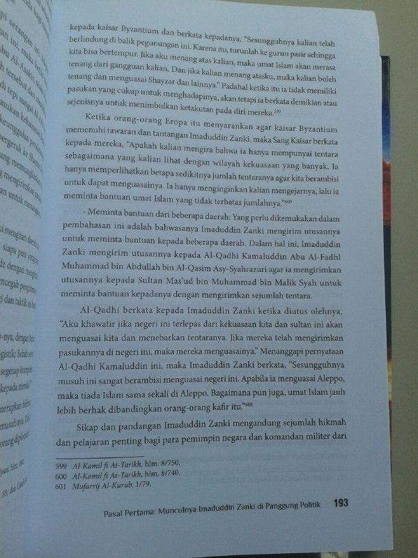 Buku Bangkit Dan Runtuhnya Daulah Zankiyah isi 2