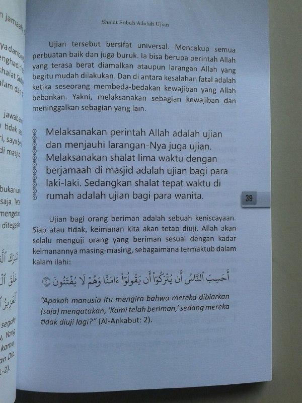 Buku Berkah Shalat Subuh Berjamaah Kebangkitan & Kemenangan Umat Islam isi