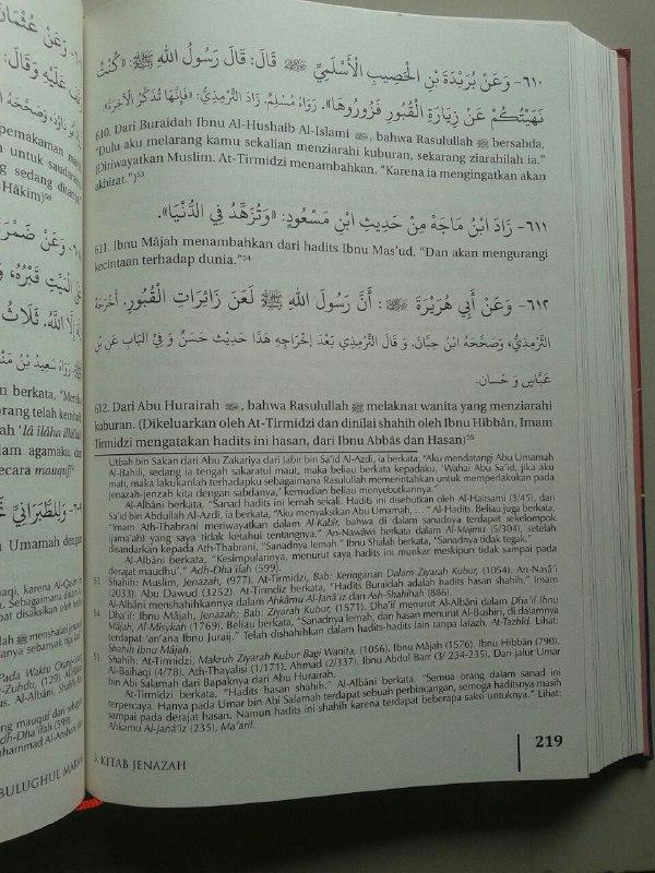 Buku Bulughul Maram Dilengkapi Tahqiq Dan Tahkhrij Dari Syaikh Albani isi