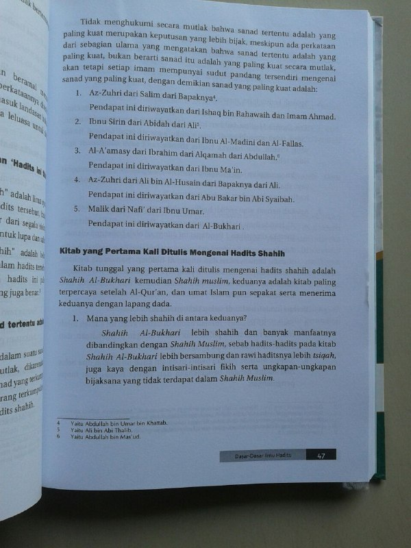 Buku Dasar Dasar Ilmu Hadits Sejarah Ilmu Rawi Sanad Matan Mutawattir isi 2