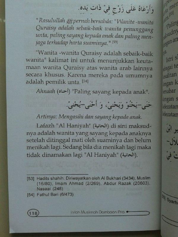 Buku Inilah Kriteria Muslimah Dambaan Pria isi 2