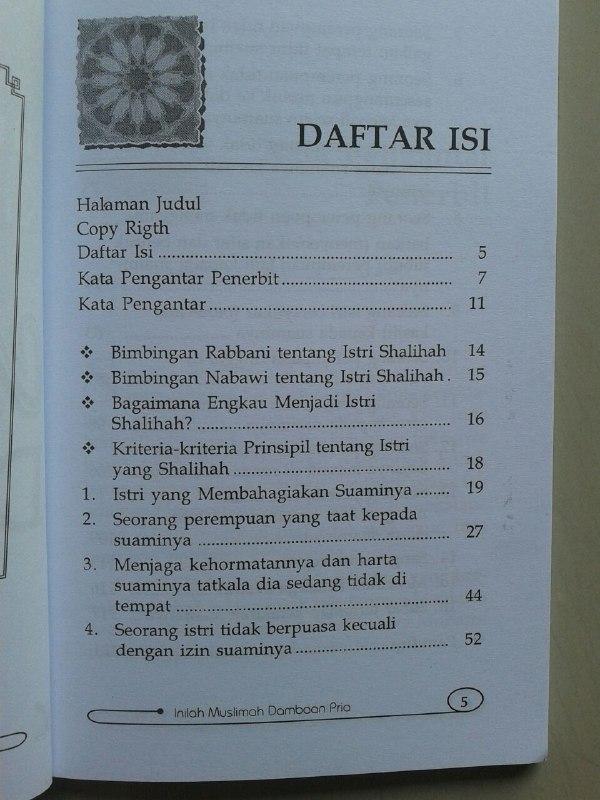 Buku Inilah Kriteria Muslimah Dambaan Pria isi