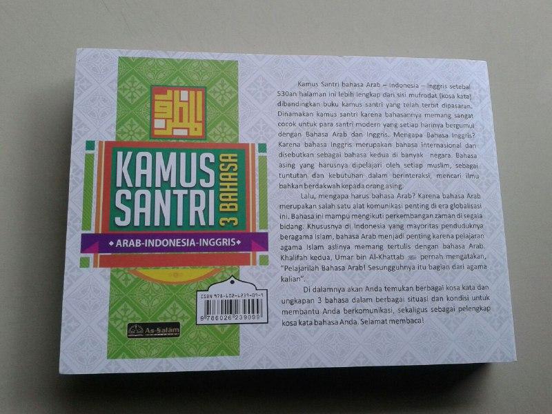 Kamus Santri 3 Bahasa Sebulan Hafal Dan Paham Cepat 1000 Kosa Kata cover 2
