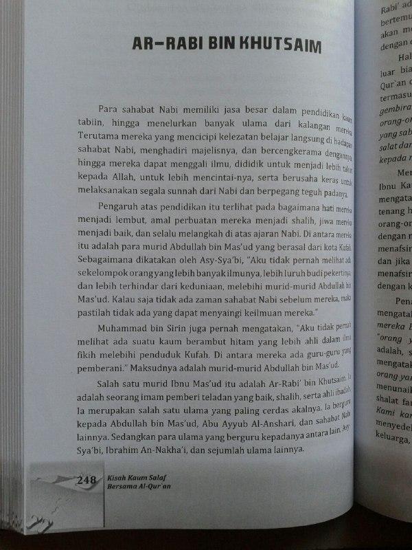 Buku Kisah Kaum Salaf Bersama Al-Qur'an isi 2