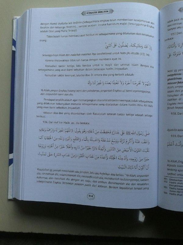 Buku Matan & Terjemahan Lengkap Riyadhus Shalihin isi 3