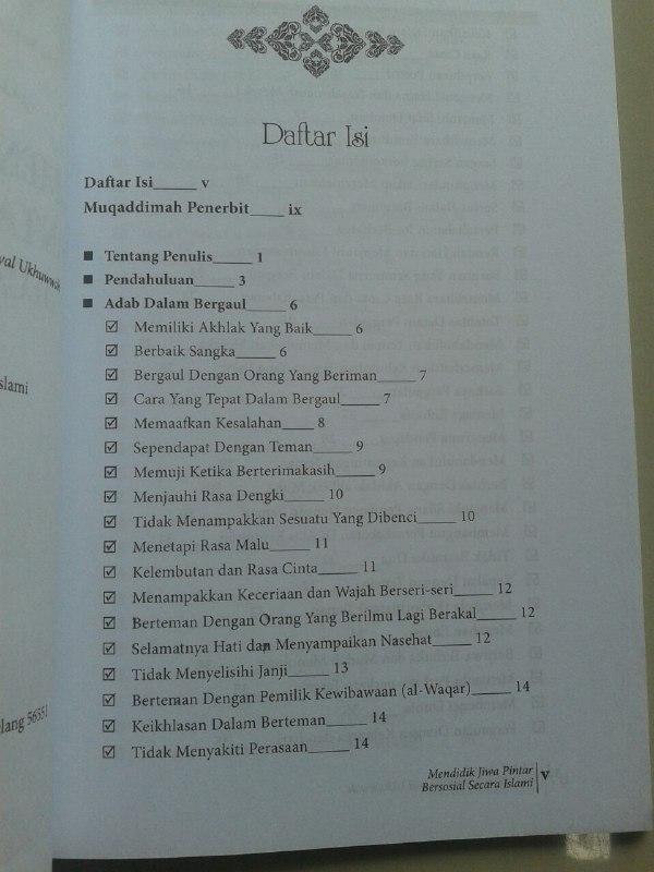 Buku Mendidik Jiwa Pintar Bersosial Secara Islami isi