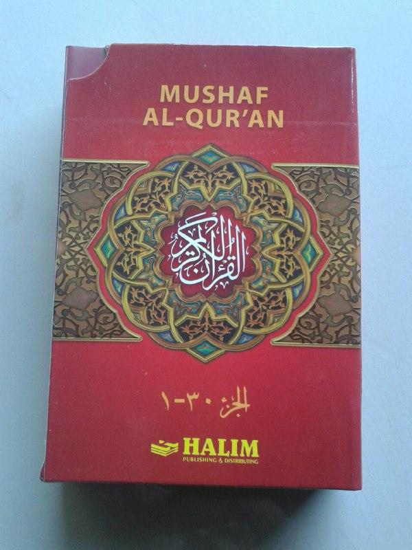 Al-Qur'an Mushaf Halim Nur Jeddah Per 5 Juz Set 6 Jilid cover 3