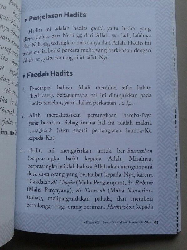Buku Sembilan Mutiara Faedah Dari Hadits Nama Dan Sifat Allah isi