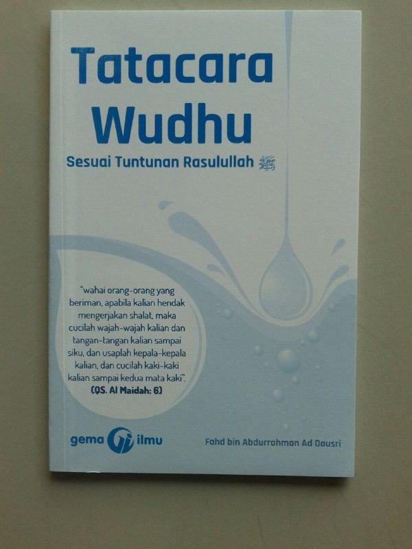 Buku Tata Cara Wudhu Sesuai Tuntunan Rasulullah cover 2