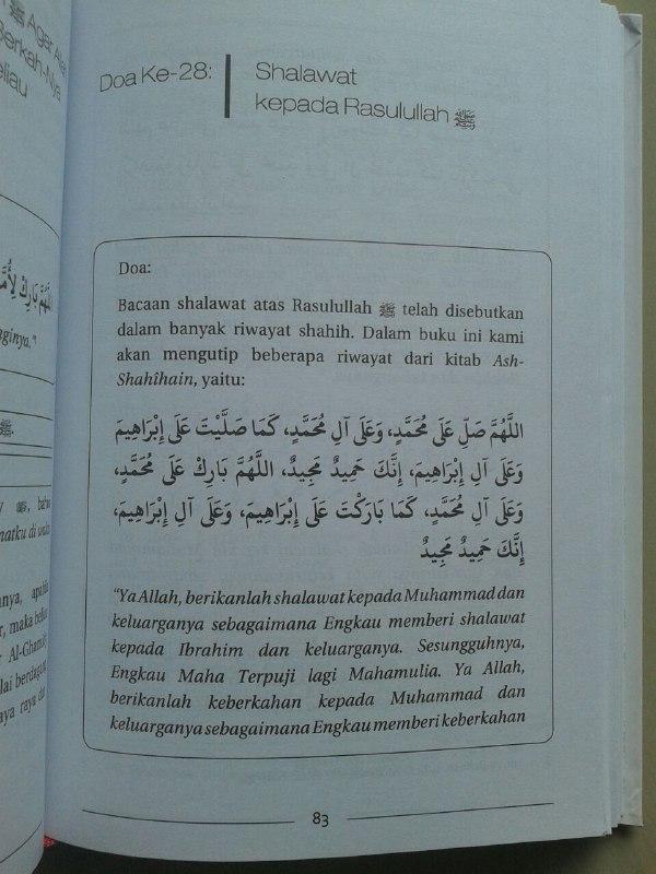 Buku 100 Doa Mustajab Bersejarah isi