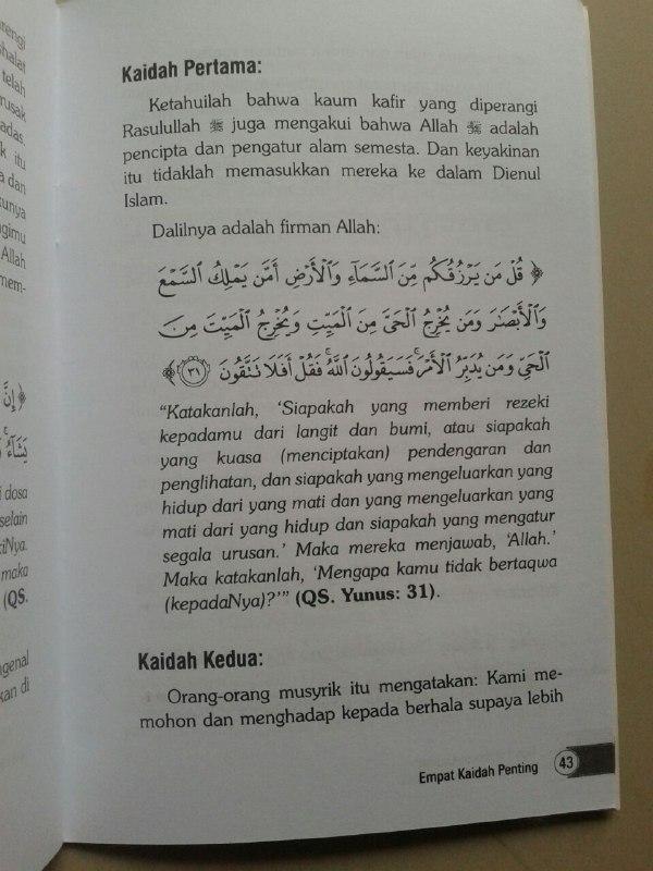 Buku 3 Landasan Utama Al-Utsul Ats-Tsalatsah isi 2
