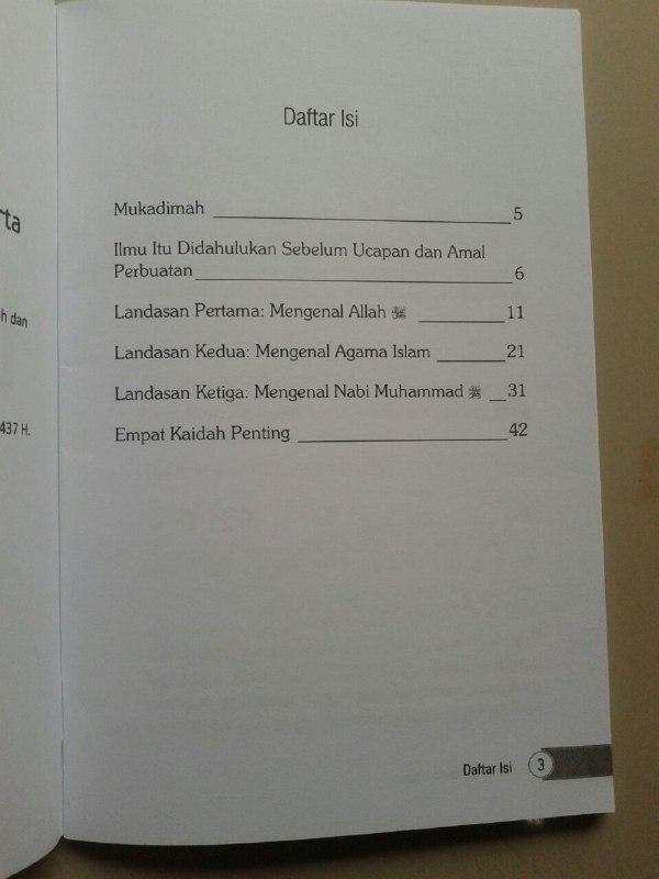 Buku 3 Landasan Utama Al-Utsul Ats-Tsalatsah isi