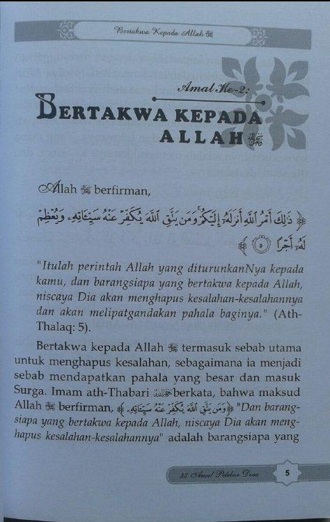 Buku 35 Amal Pelebur Dosa isi 2