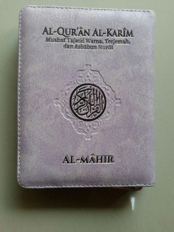 Al-Qur'an Mushaf Terjemah & Tajwid Al-Mahir Resleting Ukuran A6 cover
