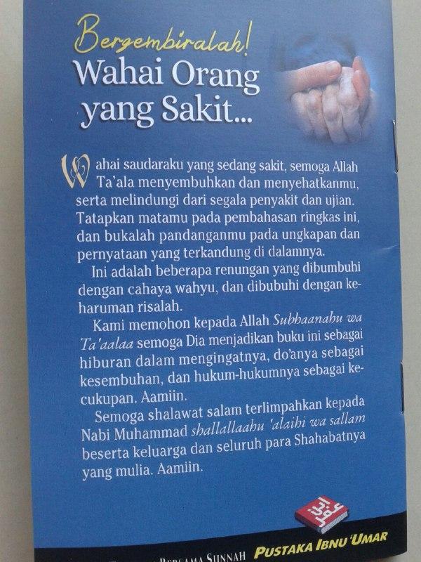 Buku Saku Bergembiralah Wahai Orang Yang Sakit Renungan Menggembirakan cover 2