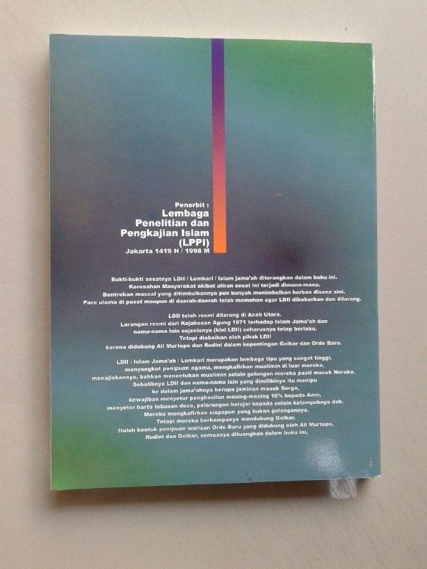 Buku Bahaya Islam Jama'ah Lemkari LDII Pengakuan Gembong Gembong LDII cover