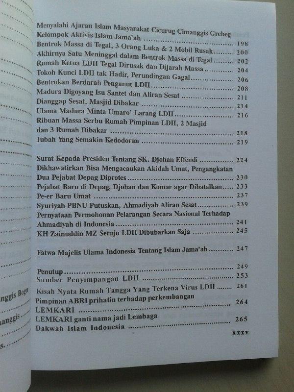 Buku Bahaya Islam Jama'ah Lemkari LDII Pengakuan Gembong Gembong LDII isi 2