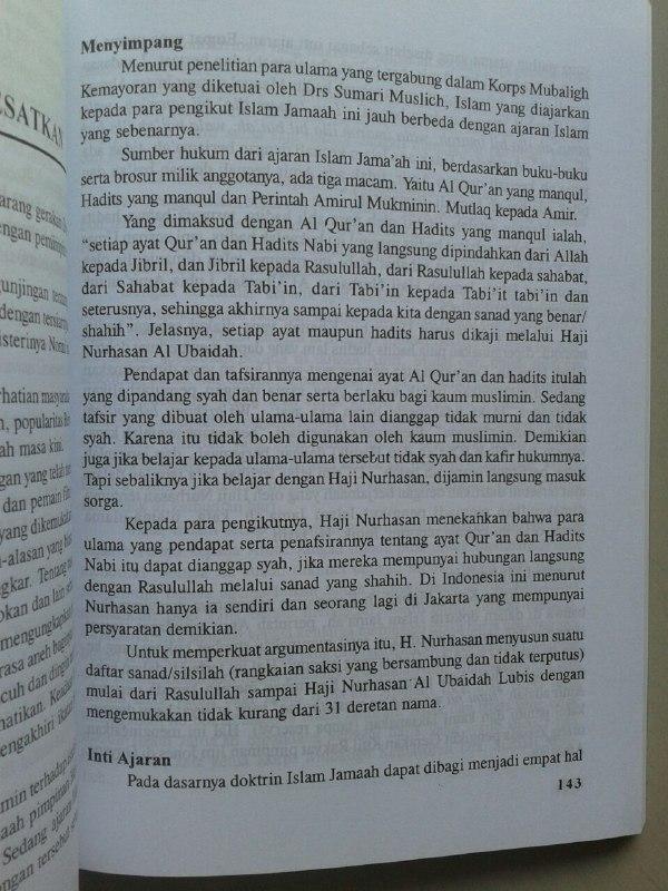 Buku Bahaya Islam Jama'ah Lemkari LDII Pengakuan Gembong Gembong LDII isi
