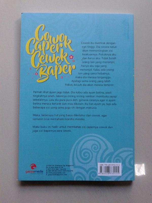 Buku Cowok Caper Cewek Baper Fenomena Di Kalangan Anak Muda cover 2