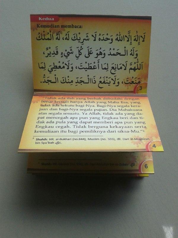 Buku Saku Dzikir Setelah Shalat Wajib Dan Shalat Sunnah (Lipat) isi