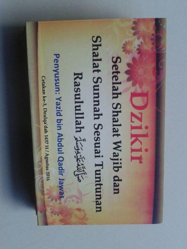 Buku Saku Dzikir Setelah Shalat Wajib Dan Shalat Sunnah (Lipat) cover