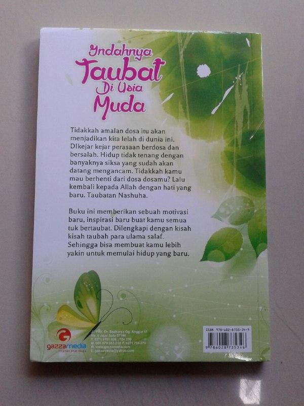 Buku Indahnya Taubat Di Usia Muda Jaminan Ketenangan Hati Dan Jiwa cover 2