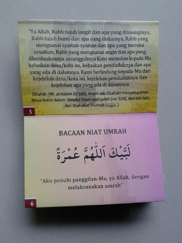Buku Saku Kumpulan Do'a Do'a Umrah & Haji (Lipat) isi