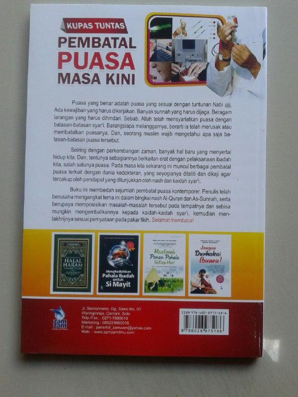 Buku Kupas Tuntas Pembatal Puasa Masa Kini cover 2