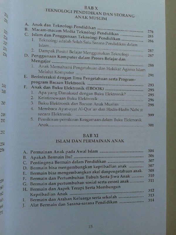 Buku Kurikulum Pendidikan Anak Muslim isi 2
