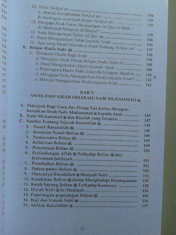 Buku Kurikulum Pendidikan Anak Muslim isi 3