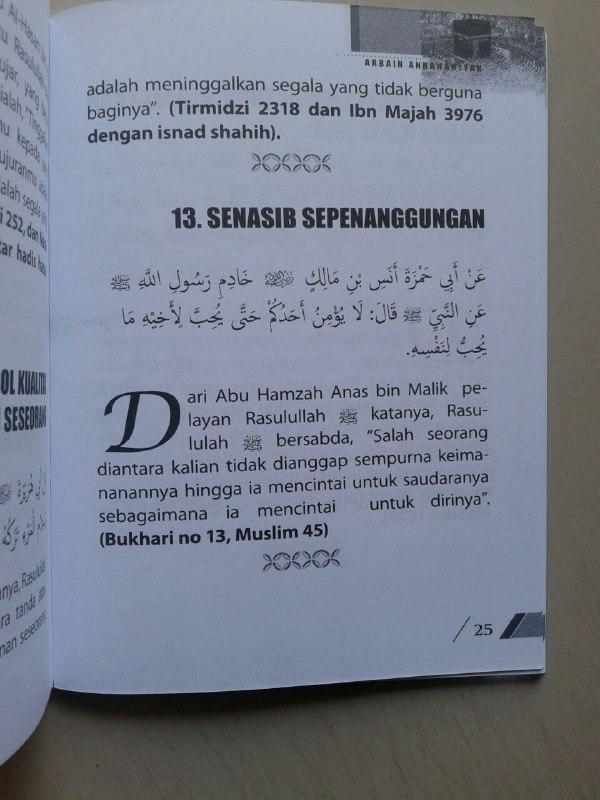 Buku Saku Matan Arbain Annawawiyah isi