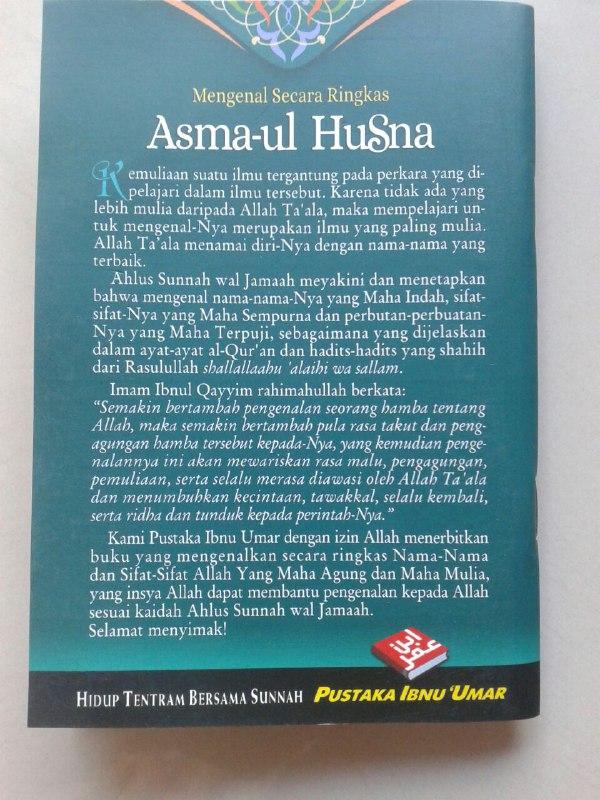 Buku Saku Mengenal Secara Ringkas Asma-ul Husna cover 2