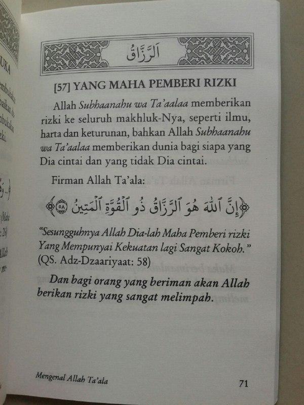 Buku Saku Mengenal Secara Ringkas Asma-ul Husna isi 2