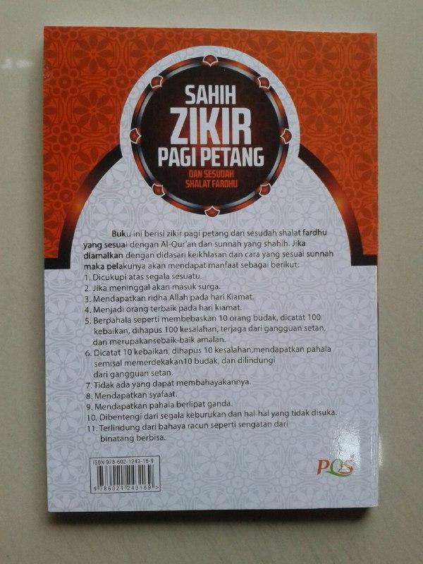 Buku Saku Sahih Zikir Pagi Petang Dan Sesudah Shalat Fardhu cover 2