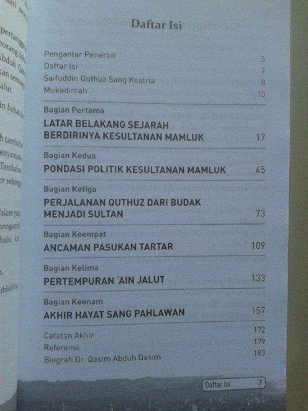 Buku Saifuddin Quthuz Sang Ksatria Perang 'Ain Jalut isi 2