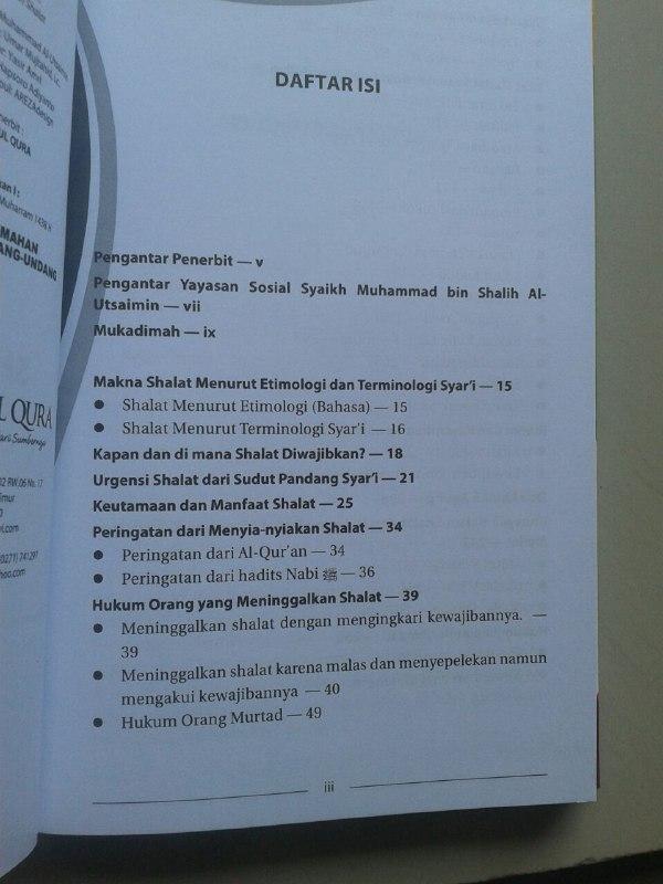 Buku Sifat Shalat Nabi Shallallahu Alaihi Wa Sallam isi 2