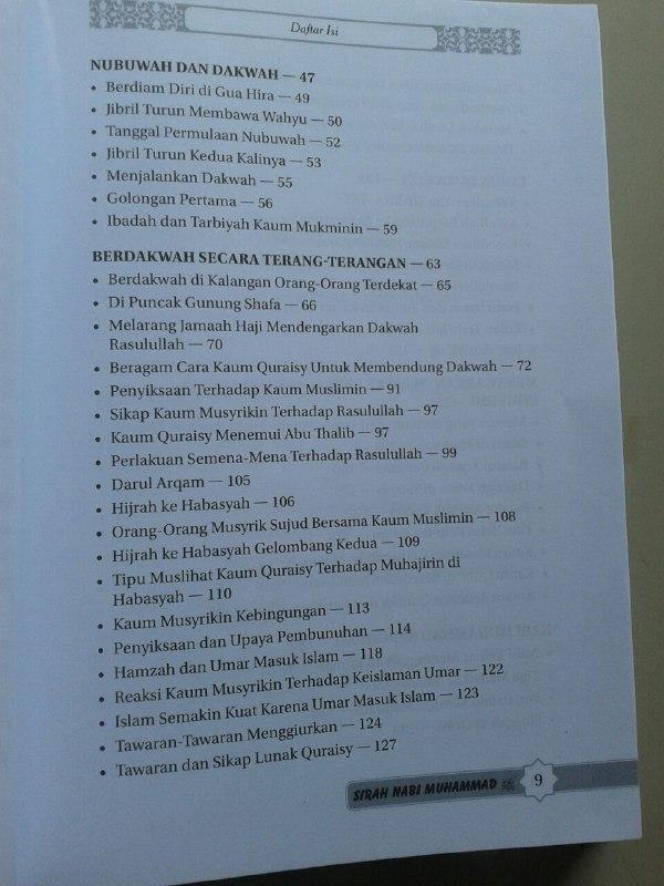 Buku Sirah Nabi Muhammad Manfaat Mempelajari Sirah Peta Zaman Nabi isi 3