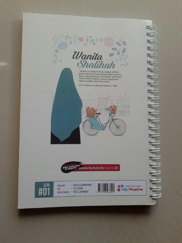 Buku Tulis Islami Spiral Cover Wanita Shalihah cover 2