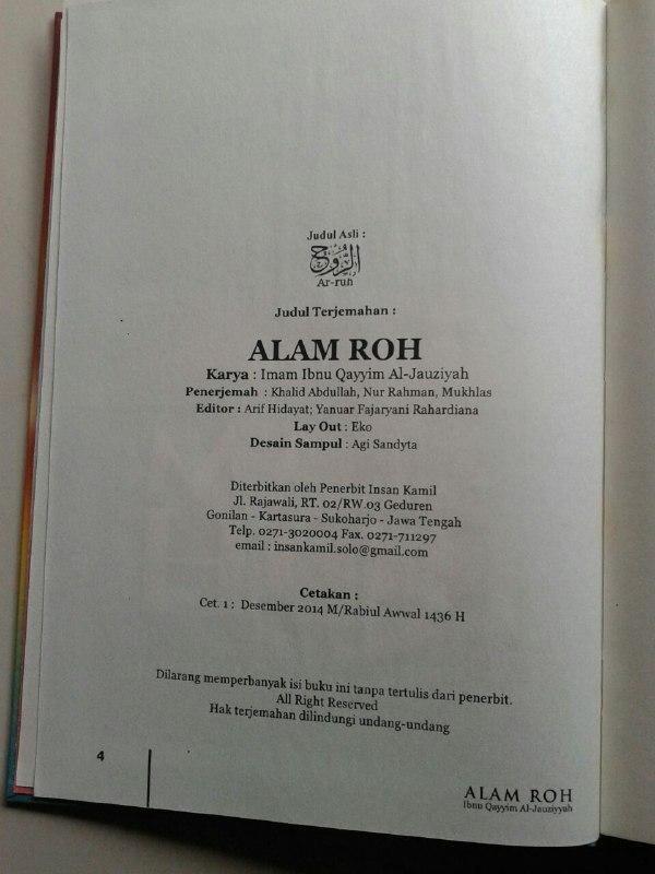 Buku Alam Roh isi 3