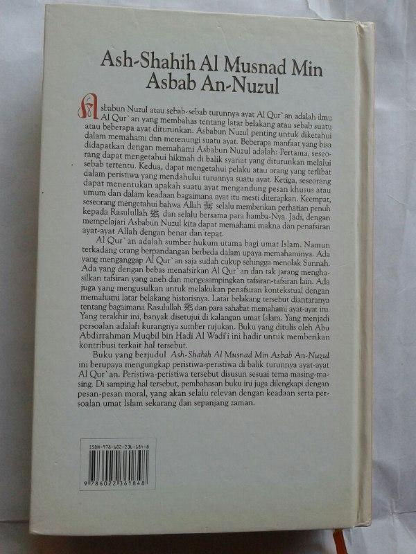 Buku Ash-Shahih Al Musnad Min Asbab An-Nuzul cover