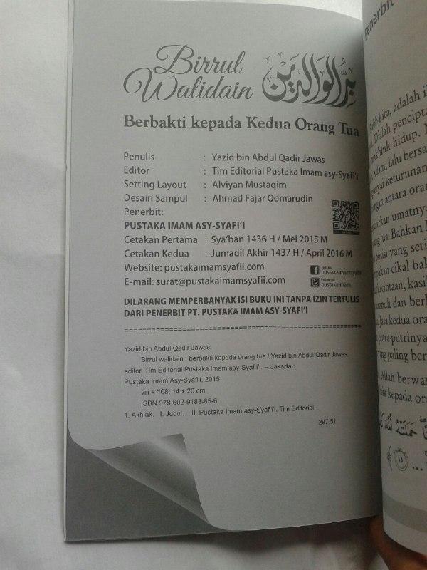 Buku Birrul Walidain Berbakti Kepada Kedua Orang Tua isi 2